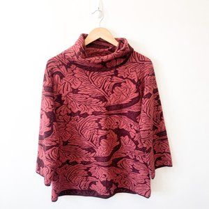 Free People Red Knit Turtleneck Sweater Sz Large
